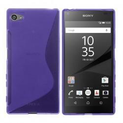 Silikon etui S za Sony Xperia Z5 Compact +zaščitna folija zaslona, Vijola barva