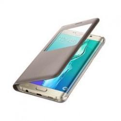 "Preklopna torbica ""window"" za Samsung Galaxy S6 Edge Plus, Zlata barva"