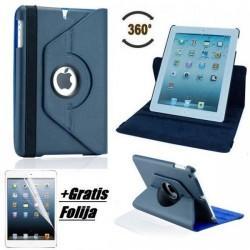 Torbica za Apple iPad Air, Vrtljiva, Modra barva +Gratis folija