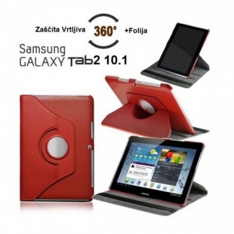 Torbica za Samsung Galaxy TAB 2 10.1 (P5100,P5110) Vrtljiva 360 Book Cover ,Rdeča barva