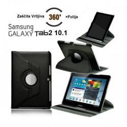 Torbica za Samsung Galaxy TAB 2 10.1 (P5100,P5110) Vrtljiva 360 Book Cover ,Črna barva