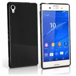 Silikon etui za Sony Xperia M4 Aqua 0,5mm, Črna barva +folija zaslona