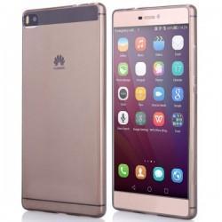 Silikon etui za Huawei Ascend P8 Lite, 0,3mm, prozorno temna +folija zaslona