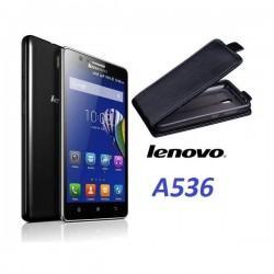 "Preklopna Torbica ""flexi"" za Lenovo A536, Črna barva"