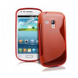 Silikon etui S za Samsung Galaxy S3 Mini +zaščitna folija zaslona, Rdeča barva