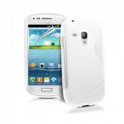 Silikon etui S za Samsung Galaxy S3 Mini +zaščitna folija zaslona, Bela barva