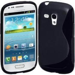 Silikon etui S za Samsung Galaxy S3 Mini +zaščitna folija zaslona, Črna barva
