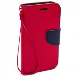 Preklopna Torbica Fancy za Samsung Galaxy Xcover 3, Rdeča barva