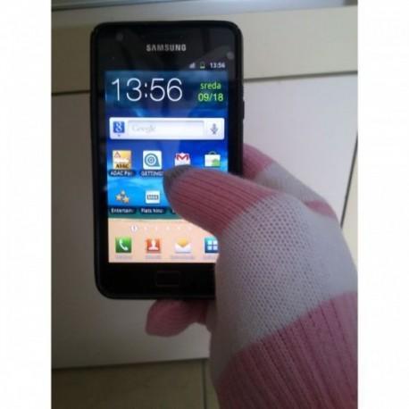 Rokavice za Zaslone na dotik, Pink/bela barva