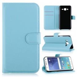 Preklopna torbica za Samsung Galaxy J5, svetlo modra barva