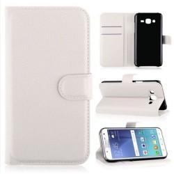 Preklopna torbica za Samsung Galaxy J5, bela barva