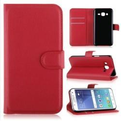 Preklopna torbica za Samsung Galaxy J5, rdeča barva