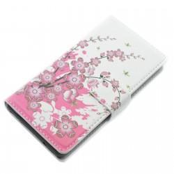 Preklopna Torbica Fancy za Sony Xperia Z3 Compact, motiv Flowers