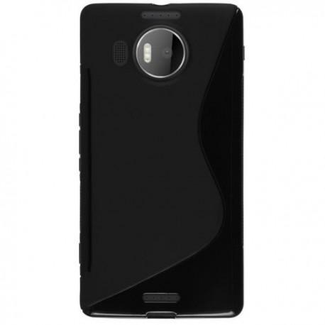 Silikon etui S za Microsoft Lumia 950 XL +zaščitna folija zaslona, Črna barva