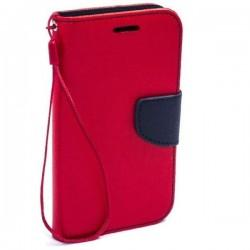 Preklopna Torbica Fancy za Samsung Galaxy J5, Rdeča barva