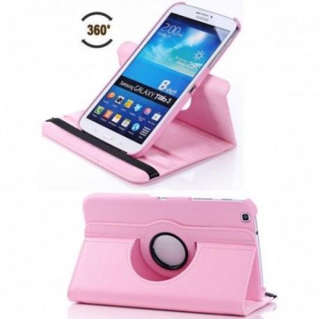 Torbica za Samsung Galaxy TAB 3 8.0 (T310,T311,T315) Vrtljiva 360 Book Cover , Pink barva