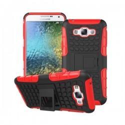 Etui Dual Armor za Samsung Galaxy J5, Rdeče-črna barva