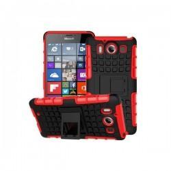 Etui Dual Armor za Microsoft Lumia 950, Rdeče-črna barva