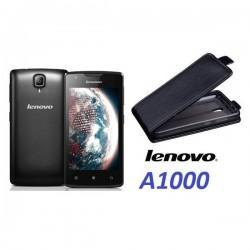 "Preklopna Torbica ""flexi"" za Lenovo A1000, Črna barva"