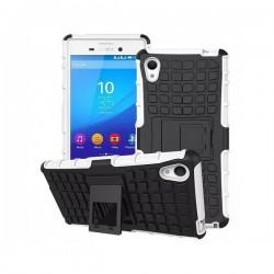 Etui Dual Armor za Sony Xperia M4 Aqua, Belo-črna barva