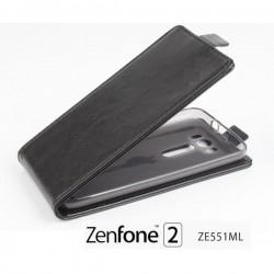 "Preklopna Torbica ""flexi"" za Asus Zenfone 2 ZE551ML, Črna barva"