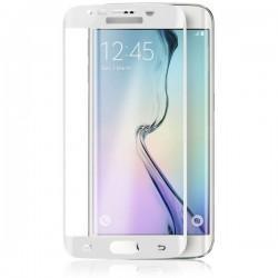 Zaščitno steklo za Samsung Galaxy S6 Edge, robovi v beli barvi