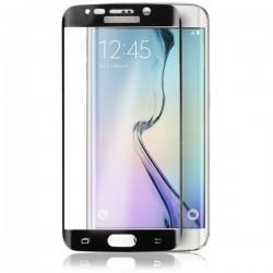 Zaščitno steklo za Samsung Galaxy S6 Edge, robovi v črni barvi