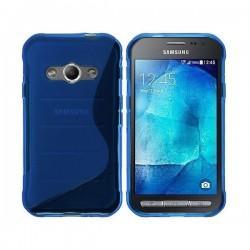 Silikon etui za Samsung Galaxy Xcover 3, Modra barva+ folija ekrana
