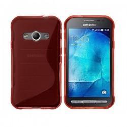 Silikon etui za Samsung Galaxy Xcover 3, Rdeča barva+ folija ekrana