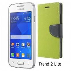 "Preklopna Torbica ""Fancy"" za Samsung Galaxy Trend 2, Zelena barva"