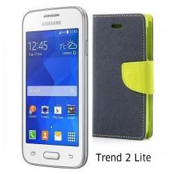 "Preklopna Torbica ""Fancy"" za Samsung Galaxy Trend 2, Modra barva"