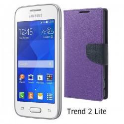 "Preklopna Torbica ""Fancy"" za Samsung Galaxy Trend 2, Vijola barva"