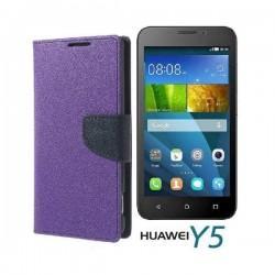 "Preklopna Torbica ""Fancy"" za Huawei Y5, Vijola barva"