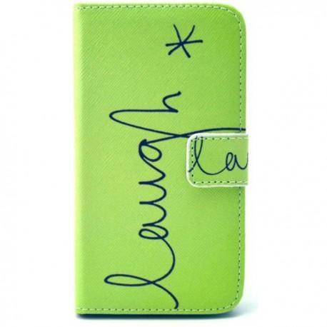 """Preklopna Torbica """"Fancy"""" za Samsung Galaxy Core Prime, Zelena barva z vzorcem"""