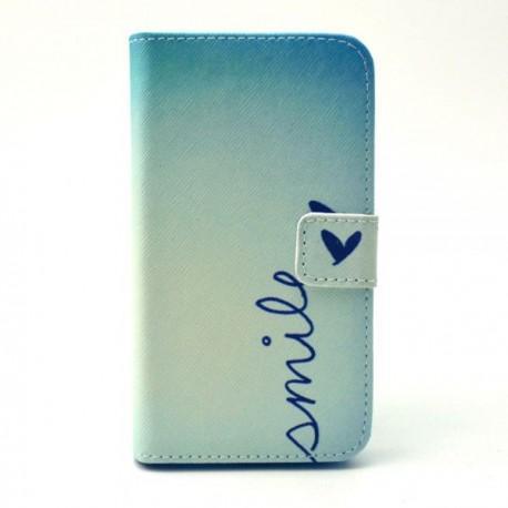 "Preklopna Torbica ""Fancy"" za Samsung Galaxy Core Prime, Modra barva z vzorcem"
