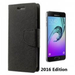 """Preklopna Torbica """"Fancy"""" za Samsung Galaxy A3 2016, Črna barva"""
