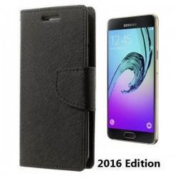 """Preklopna Torbica """"Fancy"""" za Samsung Galaxy A5 2016, Črna barva"""