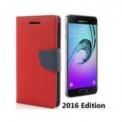 """Preklopna Torbica """"Fancy"""" za Samsung Galaxy A3 2016, Rdeča barva"""