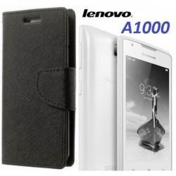 """Preklopna Torbica """"Fancy"""" za Lenovo A1000, Črna barva"""