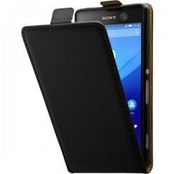 "Preklopna Torbica ""flexi"" za Sony Xperia M5, Črna barva"
