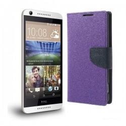 "Preklopna Torbica ""Fancy"" za HTC Desire 626, Vijola barva"