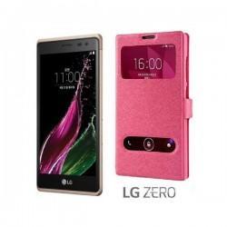 "Preklopna torbica ""window"" za LG Zero, Pink barva"