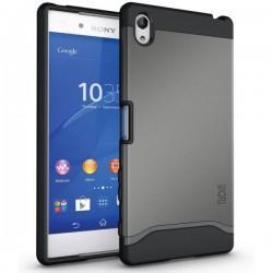 """Etui Tudia """"Dual Armor Slim"""" za Sony Xperia Z5 Premium, srebrna barva"""