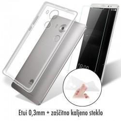 Silikonski etui 0,3mm za Huawei Mate 8, Prozoren+ Zaščitno steklo
