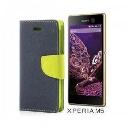 "Preklopna Torbica ""Fancy"" za Sony Xperia M5, Modra barva"