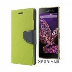 "Preklopna Torbica ""Fancy"" za Sony Xperia M5, Zelena barva"