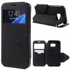 "Preklopna torbica ""Roar Fancy Diary"" za Samsung Galaxy S7 Edge, Črna barva"