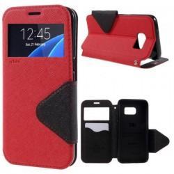 "Preklopna torbica ""Roar Fancy Diary"" za Samsung Galaxy S7 Edge, Rdeča barva"