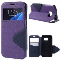 "Preklopna torbica ""Roar Fancy Diary"" za Samsung Galaxy S7 Edge, Vijola barva"