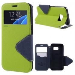 "Preklopna torbica ""Roar Fancy Diary"" za Samsung Galaxy S7 Edge, Zelena barva"